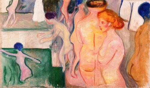 Women in a Swimming Pool  Edvard Munch